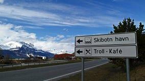 Unterzeichnet herein Norwegen Lizenzfreies Stockfoto