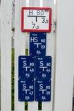 Unterzeichnet Hydrantinformationen Stockbilder