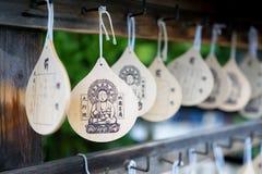 Unterzeichnet Segen an senso-ji Tempel Lizenzfreie Stockbilder