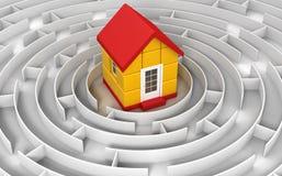 Unterzubringen Labyrinth Lizenzfreies Stockfoto