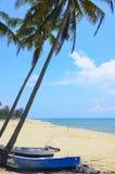 Unther шлюпки рыболова кокосовая пальма Стоковые Фотографии RF