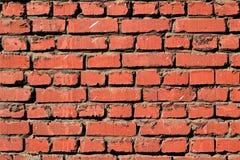 Untidy brick wall. Old brick keeps the construction Stock Image