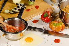 Untidy cooking Stock Photography
