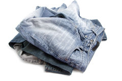 Untidy jeans Stock Image