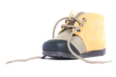 Untied baby shoe Royalty Free Stock Photos