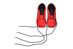 Untied shoelace of sneakers Royalty Free Stock Photos