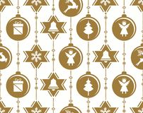 Christmas baubles decoration-vector illustration royalty free illustration