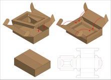 Box packaging die cut template design. 3d mock-up. A Box packaging die cut template design. 3d mock-up royalty free illustration