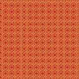 Golden pattern pattern with a red background as an abstract background royalty free illustration
