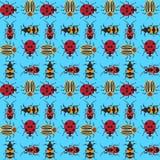 Beetles background_6 royalty free illustration