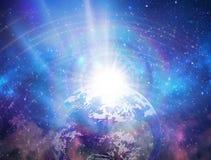 Spiritual love healing earth rainbow energy, power, portal, evolution, transformation, fractals