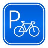 Bicycle parking vector sign stock illustration