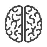 Brain vector icon stock illustration