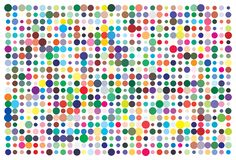 Vector color palette. 726 different colors. stock illustration