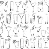 Untitled-1. Coctail hand drawn illustration for your design: menu, cards. Seamless pattern Stock Image