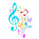Music notes vector icon stock illustration