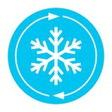 Cold snowflake vector icon vector illustration