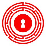 Escape room vector icon royalty free stock images