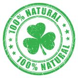 Natural product green stamp vector illustration