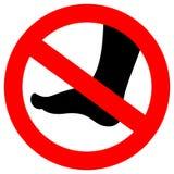 No barefoot vector sign. Illustration vector illustration