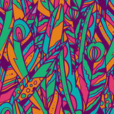 Untitled-1. Seamless vector pattern with feathers and arrows. Ethnic style. Excellent for fashion fabric design Stock Photo