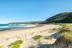 An untouched beach in Australia on a perfect sunny day. An untouched beach in Australia on a sunny summers day stock photo