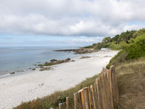 Untouched beach in Brittany. On the Bay of Biscay Royalty Free Stock Photo