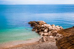 Untouched beach in Croatia royalty free stock photos