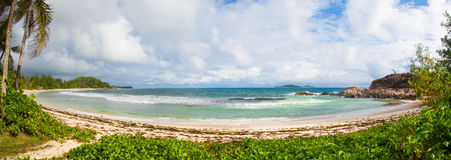 Untouched beach on the Seychelles. Royalty Free Stock Photography