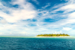 Untouched island. On the maldives, view from the indian ocean Stock Image