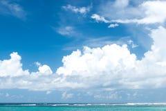 Untouched paradise tropical beach Nusa Dua on Bali island, Indonesia. Stock Images