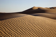 Untouched Sand Dunes. At sunset in the California Desert Stock Photo