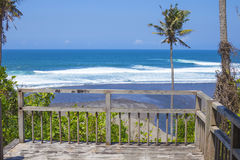 Untouched sandy beach Stock Photo