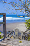 Untouched sandy beach Royalty Free Stock Images