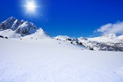 Untouched snow mountain beauty Stock Image