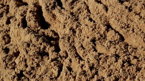 Untouched soil sand in the site stock footage