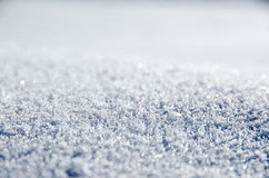 Untouched sparkling snow. Close up of untouched sparkly snow Stock Photo