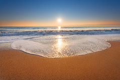 Untouched tropical beach. Royalty Free Stock Photo