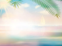 Untouched tropical beach design template. Stock Photography