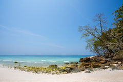 Untouched tropical beach in Phang Nga Province, Thailand Royalty Free Stock Images