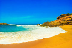 Untouched tropical beach in Sri Lanka Stock Photos