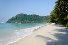 Untouched tropical beach in Thailand Royalty Free Stock Photography