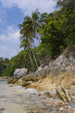 Untouched tropical beach in Thailand. Samui, Taling Ngam beach Royalty Free Stock Image