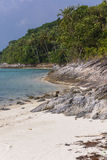 Untouched tropical beach in Thailand. Samui, Taling Ngam beach Stock Photography