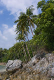 Untouched tropical beach in Thailand. Samui, Taling Ngam beach Royalty Free Stock Photo