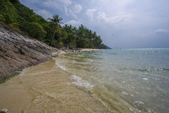 Untouched tropical beach in Thailand. Samui, Taling Ngam beach Stock Photos