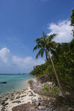 Untouched tropical beach in Thailand. Samui, Taling Ngam beach Stock Image