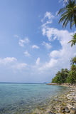 Untouched tropical beach in Thailand. Samui, Taling Ngam beach Royalty Free Stock Images