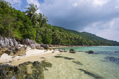 Untouched tropical beach in Thailand. Samui, Taling Ngam beach Stock Photo