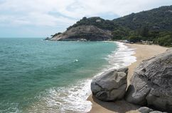 Untouched tropical beach. In Hua Hin ,Thailand stock image